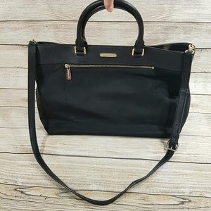 Michael Kors Large Black Tote Bag Nylon Purse